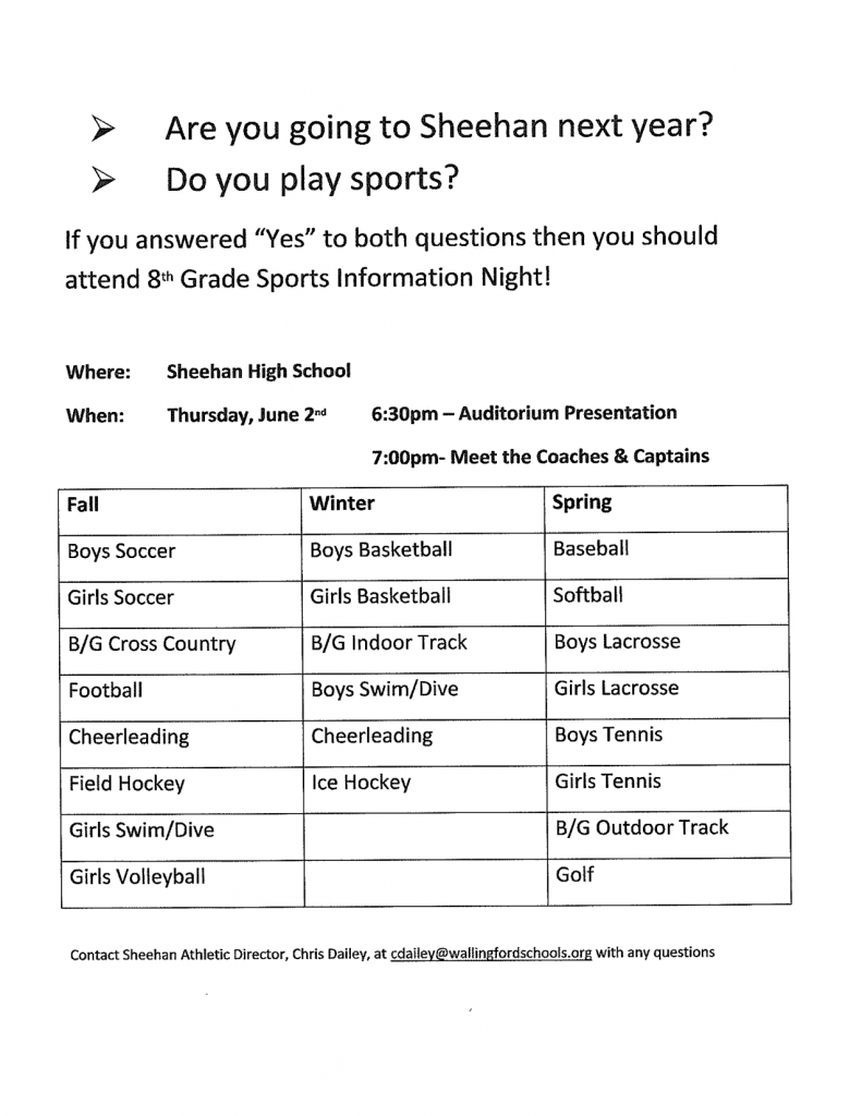 Sheehan Sports Night